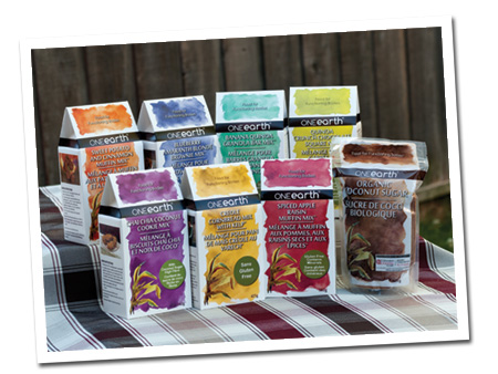 One Earth Bake Mixes made with natural ingredients